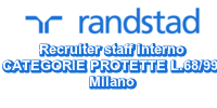 Recruiter staff interno CATEGORIE PROTETTE L.68/99 Milano