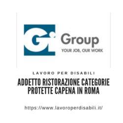 Addetto ristorazione categorie protette Capena in Roma
