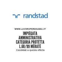 Impiegata amministrativa categoria protetta L.68/99 MERATE